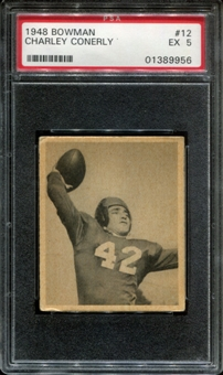 1948 Bowman Football #12 Charley Conerly PSA 5 (EX) *9956
