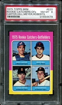 1975 Topps Mini Baseball #620 Cary Carter Rookie PSA 8 (NM-MT) *4479