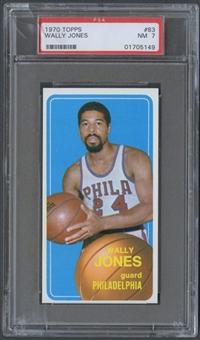 1970/71 Topps Basketball #83 Wally Jones PSA 7 (NM) *5149