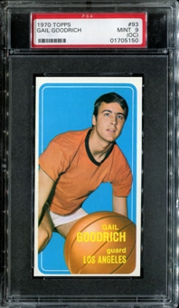 1970/71 Topps Basketball #93 Gail Goodrich PSA 9 (MINT) (OC) *5150