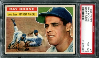1956 Topps Baseball #6 Ray Boone PSA 8 (NM-MT) *5520