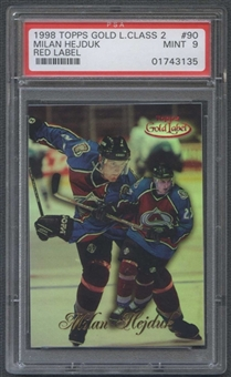 1998/99 Topps Gold Label #90 Milan Hejduk Red Label RC #09/50 PSA 9 (MINT) *3135