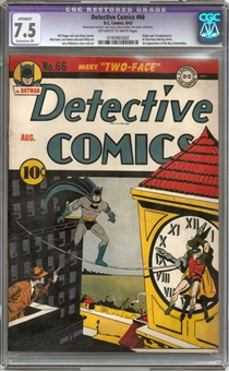 Detective Comics #66 CGC 7.5 Apparent (OW-W) *0195965002*