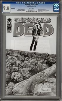 Walking Dead #100 CGC 9.6 Sketch Cover (W) *0199597018*