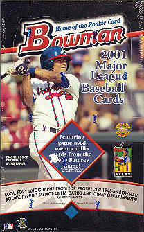 2001 Bowman Baseball Jumbo Box