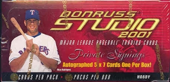 2001 Donruss Studio Baseball Hobby Box