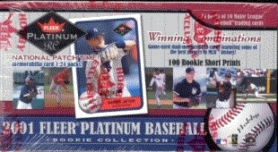 2001 Fleer Platinum Rookie Collection Baseball Hobby Box