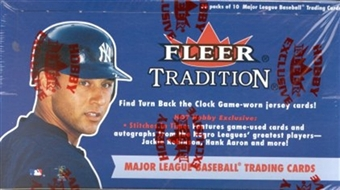 2001 Fleer Tradition Baseball Hobby Box