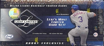 2001 Leaf Limited Baseball Hobby Box