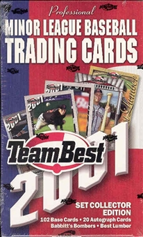 2001 Team Best Baseball Hobby Box
