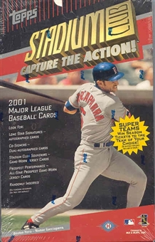 2001 Topps Stadium Club Baseball Hobby Box