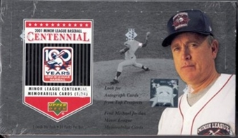 2001 Upper Deck Minor League Centennial Baseball Hobby Box
