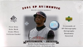 2001 Upper Deck SP Authentic Baseball Hobby Box