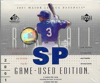 2001 Upper Deck SP Game Used Baseball Hobby Box