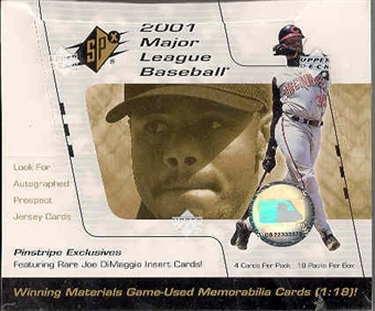 2001 Upper Deck SPx Baseball Hobby Box