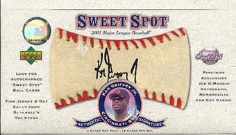 2001 Upper Deck Sweet Spot Baseball Hobby Box (EX box - mint packs!)