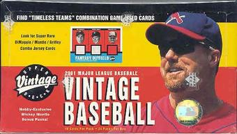2001 Upper Deck Vintage Baseball Hobby Box
