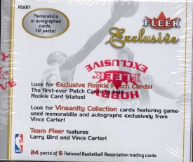 2001/02 Fleer Exclusive Basketball Hobby Box