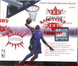 2001/02 Fleer Genuine Basketball Hobby Box