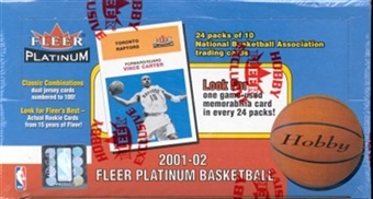 2001/02 Fleer Platinum Basketball Hobby Box