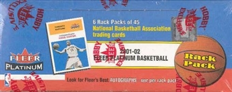 2001/02 Fleer Platinum Basketball Rack Box