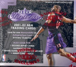 2001/02 Fleer Showcase Basketball Hobby Box