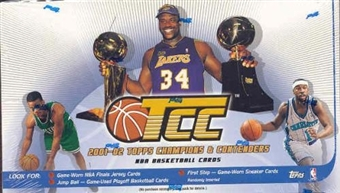 2001/02 Topps Champions & Contenders Basketball Hobby Box