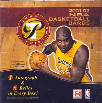 2001/02 Topps Pristine Basketball Hobby Box