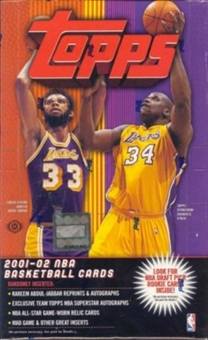 2001/02 Topps Basketball Hobby Box
