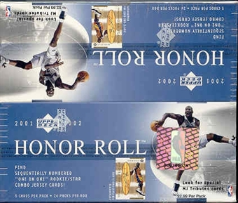 2001/02 Upper Deck Honor Roll Basketball 24 Pack Box