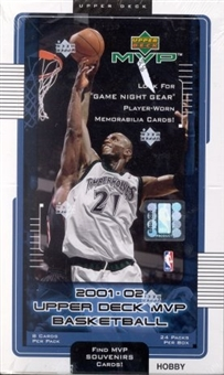 2001/02 Upper Deck MVP Basketball Hobby Box