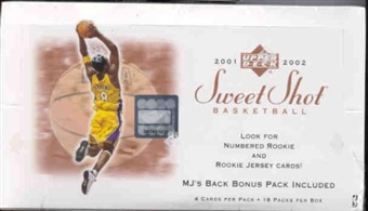 2001/02 Upper Deck Sweet Shot Basketball Hobby Box