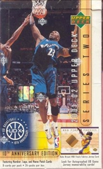 2001/02 Upper Deck Series 2 Basketball Hobby Box