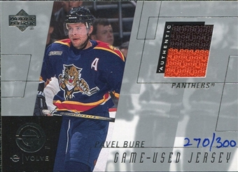 2000/01 Upper Deck e-Card Prizes #EPB Pavel Bure Multi Color Jersey /300