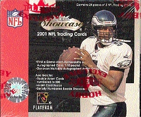 2001 Fleer Showcase Football Hobby Box