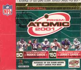 2001 Pacific Atomic Football Hobby Box