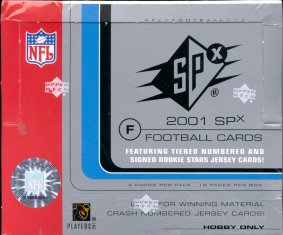 2001 Upper Deck SPx Football Hobby Box