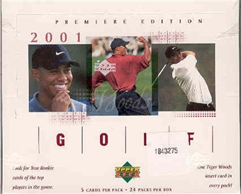 2001 Upper Deck Golf Retail 12-Box Case - Tiger Woods Rookie!