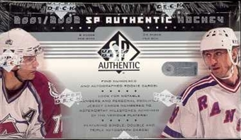 2001/02 Upper Deck SP Authentic Hockey Hobby Box