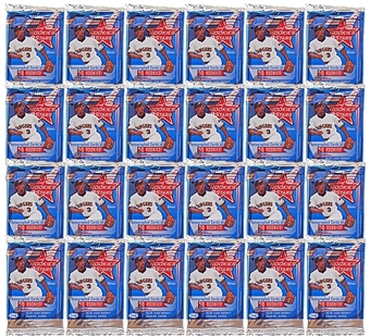 2001 Leaf Rookies & Stars Baseball Hobby 24 Pack Lot