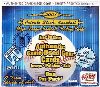 2001 Pacific Private Stock Baseball Hobby Box
