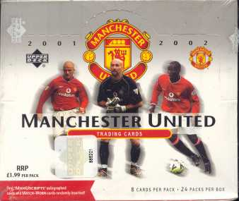2002 Upper Deck Manchester United Soccer UK Version Hobby Box