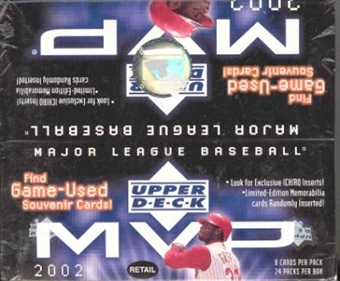 2002 Upper Deck MVP Baseball 24 Pack Box