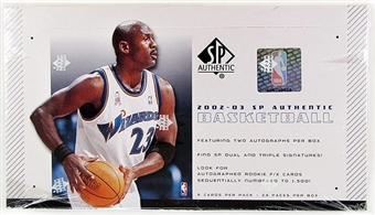 2002/03 Upper Deck SP Authentic Basketball Hobby Box