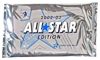 2002/03 ITG Be A Player All-Star Edition Hockey Hobby Pack