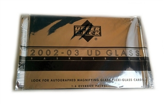 2002/03 Upper Deck Glass Basketball Box Topper Pack