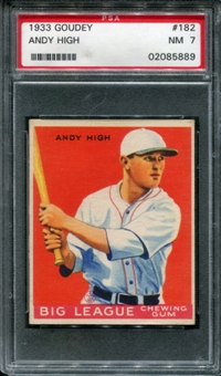 1933 Goudey Baseball #182 Andy High PSA 7 (NM) *5889