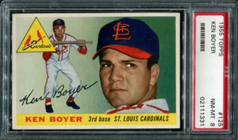 1955 Topps Baseball #125 Ken Boyer PSA 8 (NM-MT) *1331