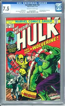 Incredible Hulk #181 CGC 7.5 (OW-W) *0222354009*