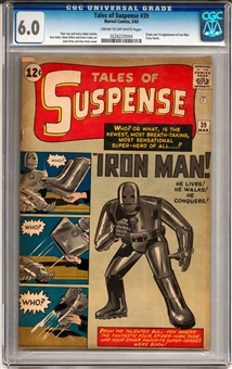 Tales of Suspense #39 CGC 6.0 (C-OW) *0226220004*
